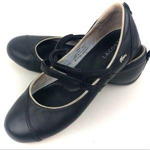 Lacoste Irina Women's Black Ballet Flat Size 7.5